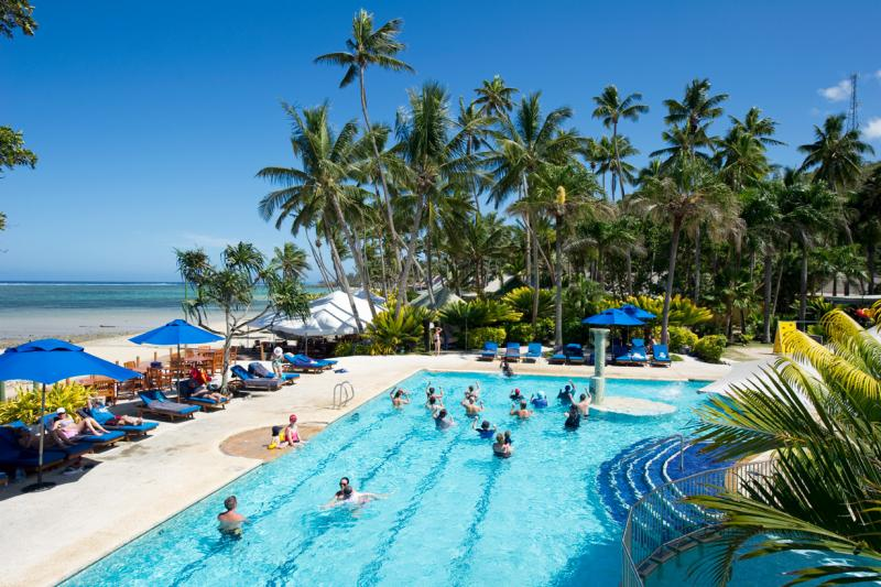 Pool games @ Fiji Hideaway Resort & Spa
